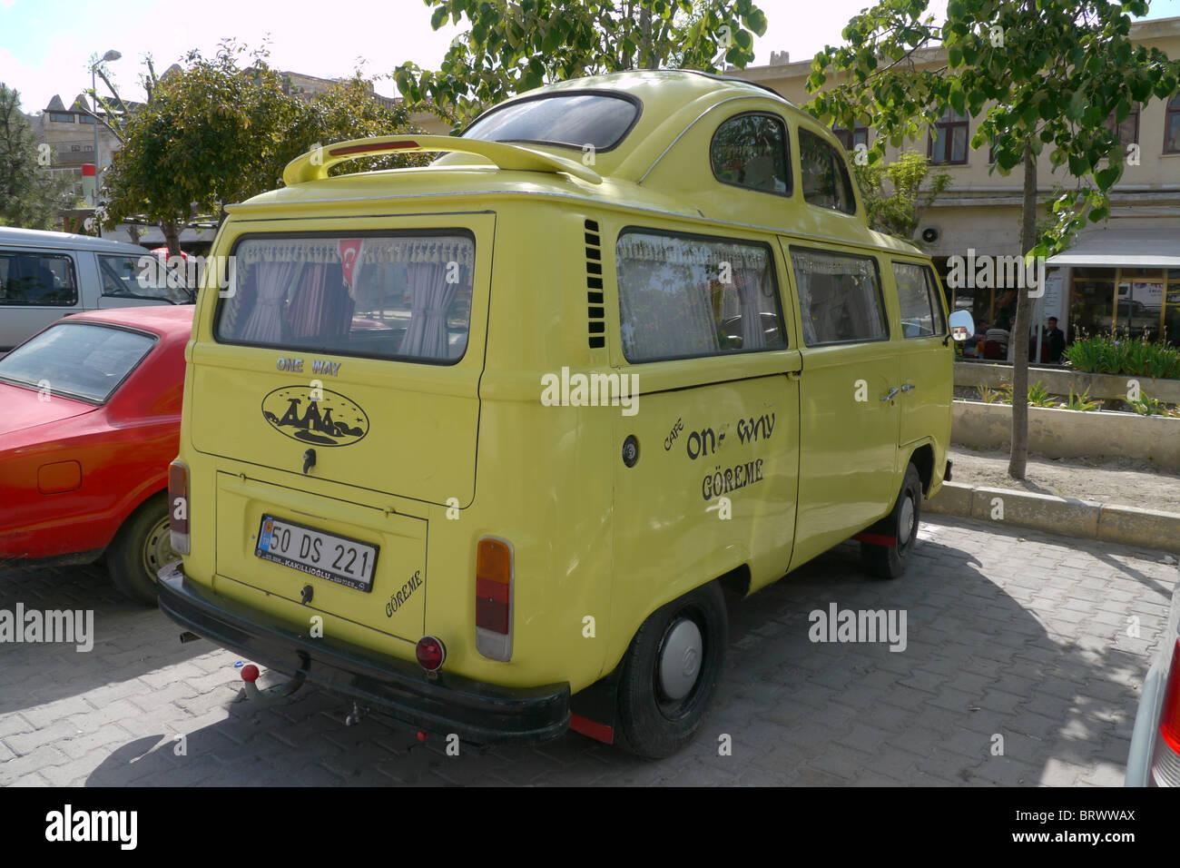 TURKEY VW camper and beetle combination, Goreme, Cappadocia. photo by Sean Sprague - Stock Image