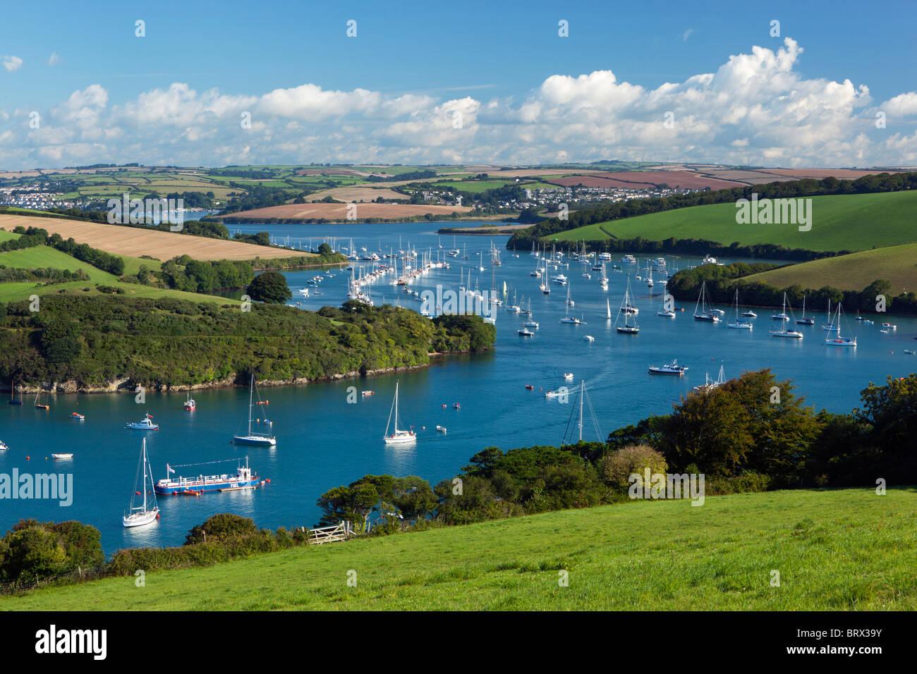 View along Kingsbridge Estuary near Salcombe - Stock Image