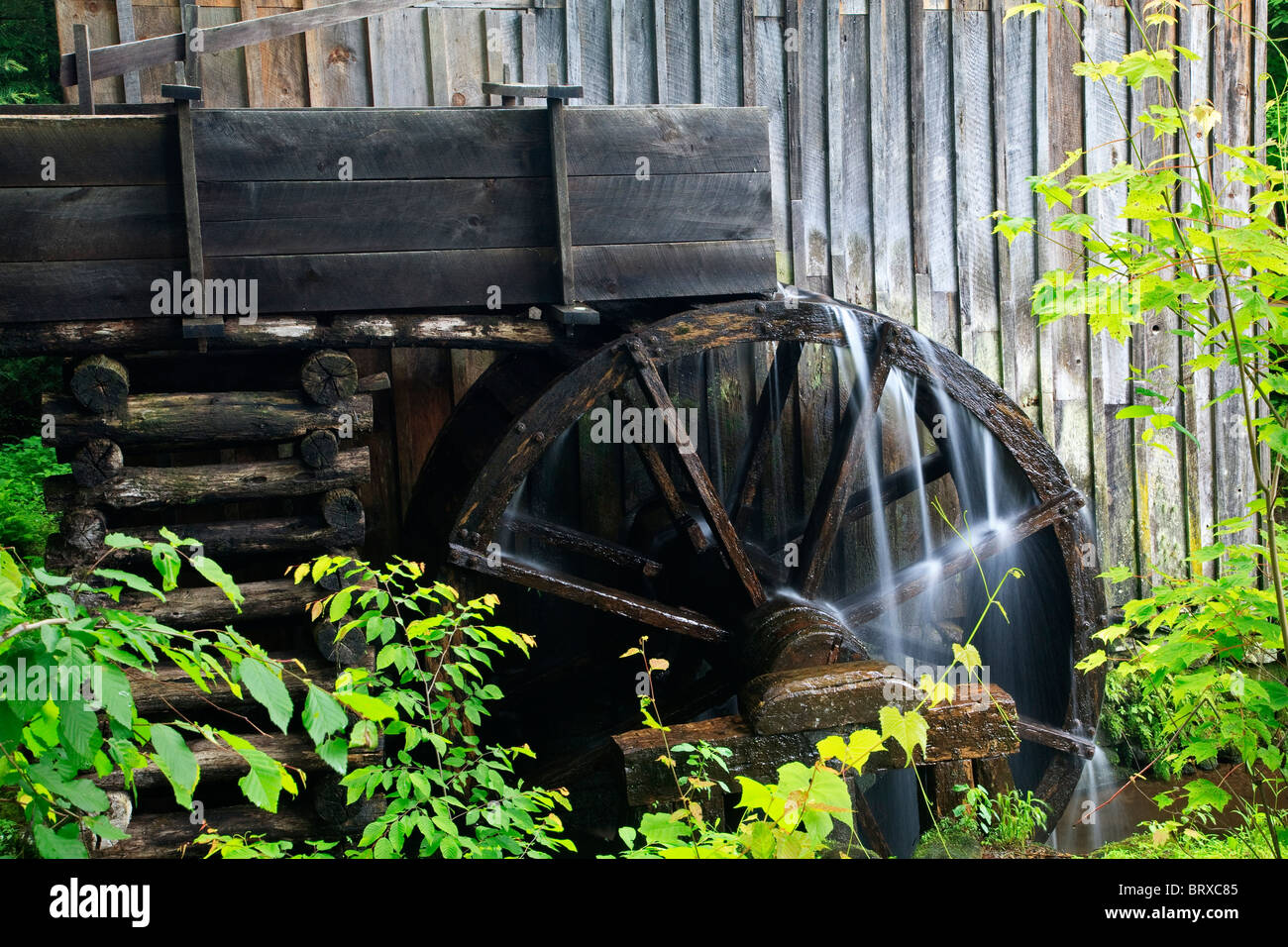The John P Cable Grist Mills in the Great Smoky Mountains National Park - Stock Image