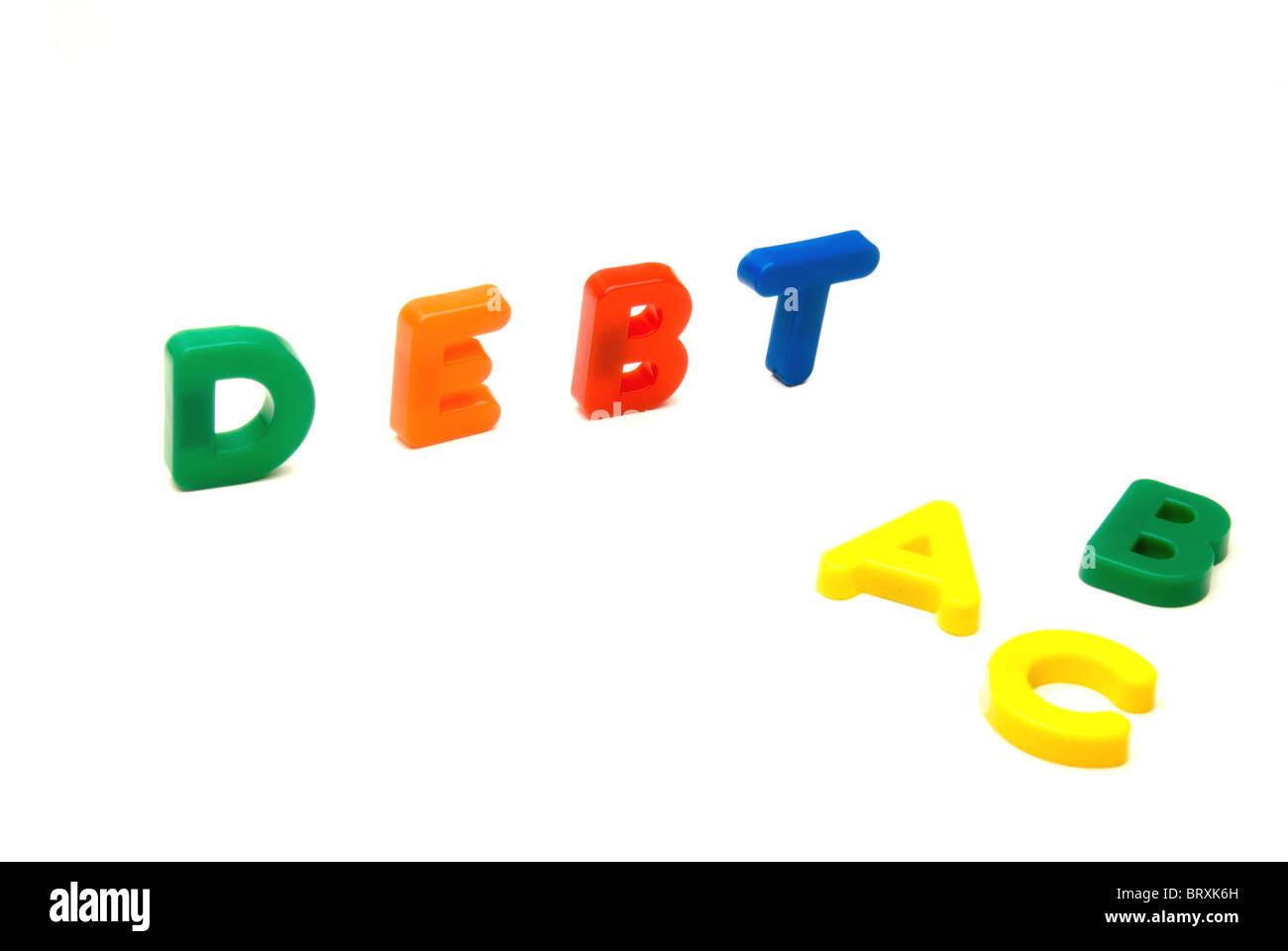Debt education - Stock Image