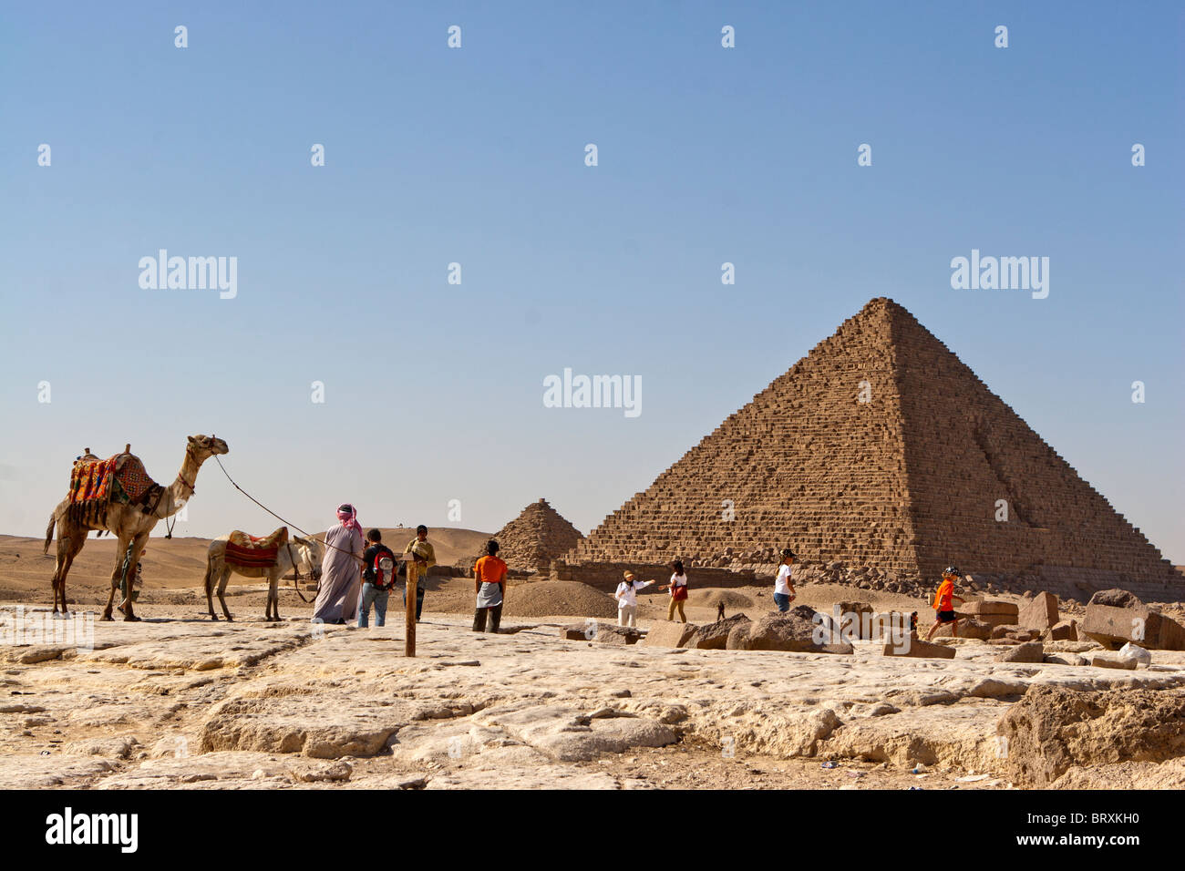 The Pyramid of Menkaure at Giza, Egypt. - Stock Image