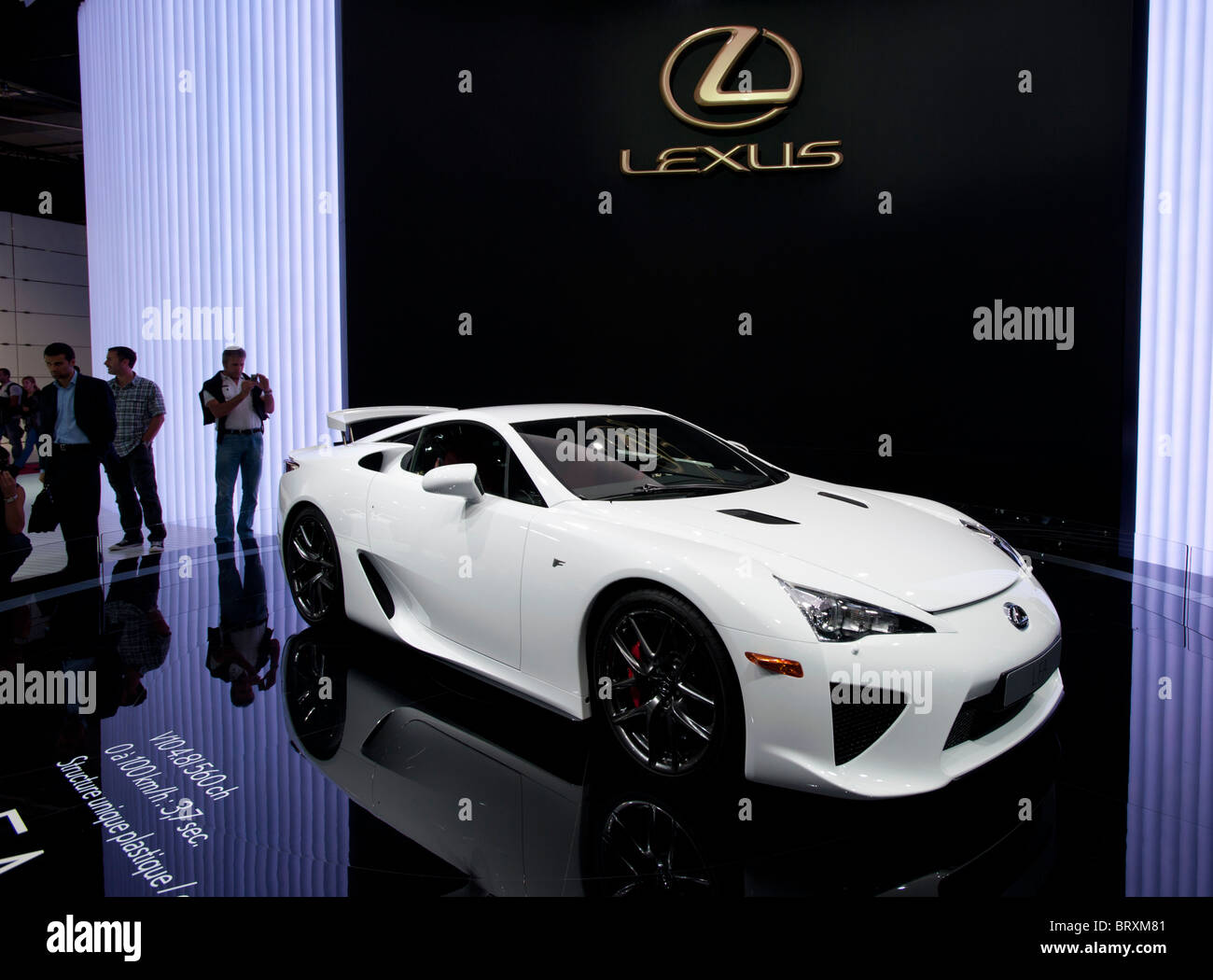 Lexus LFA On Display At The Paris Motor Show 2010   Stock Image