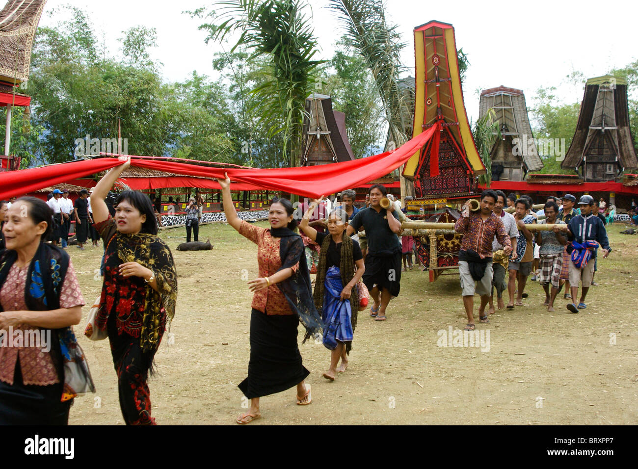 Indonesia Rituals Weddings And Funerals: Funeral Ceremony, Tana Toraja, South Sulawesi, Indonesia
