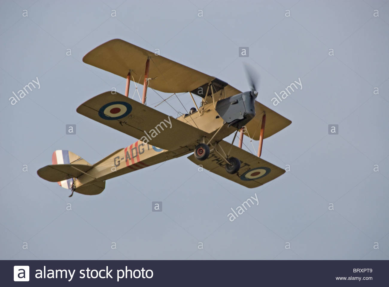 Tiger Moth Bi- plane and headcorn aerodrome in Kent - Stock Image