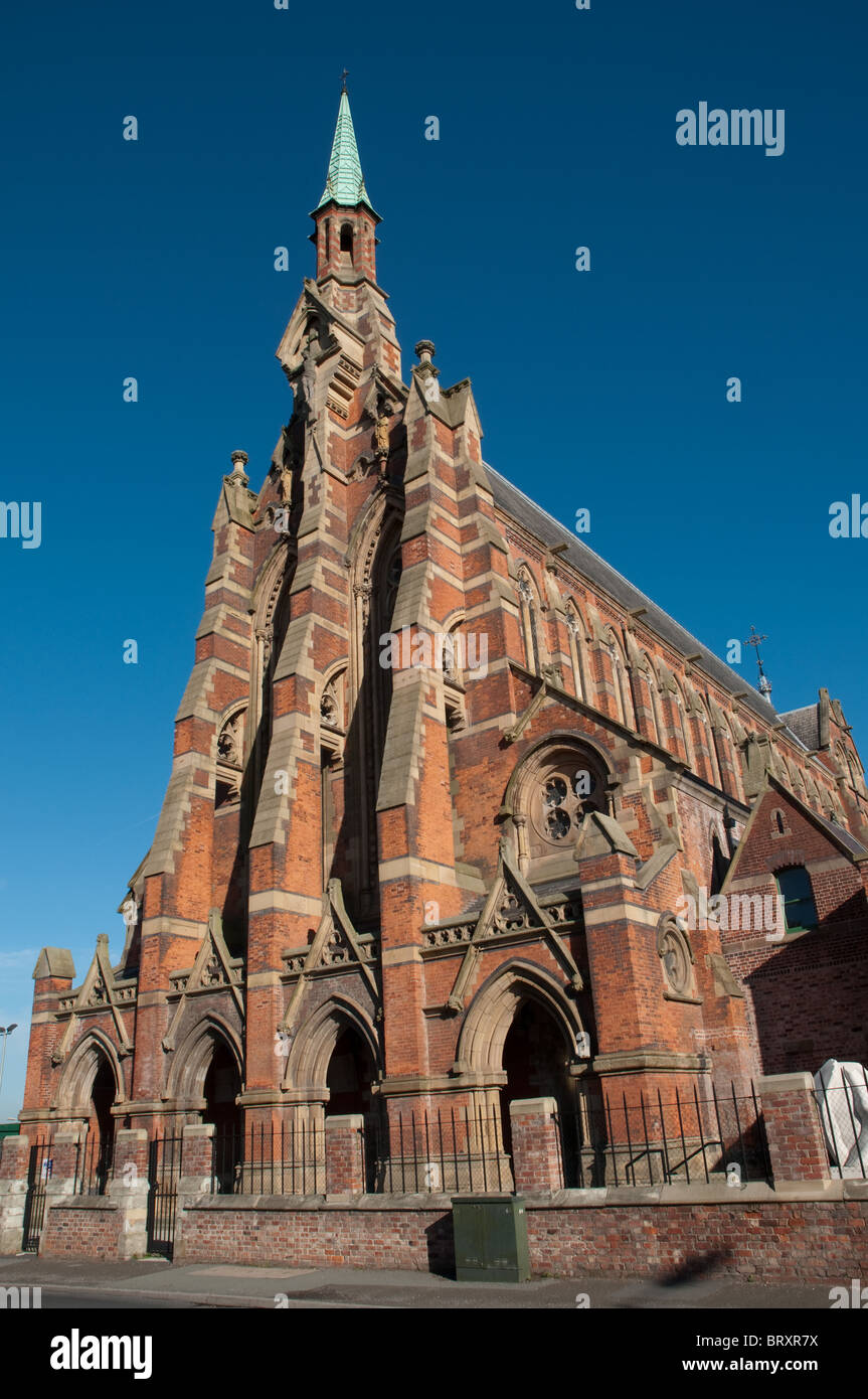 Gorton Monastery built between 1863 and 1872, designed by Edward Pugin.Vacated by the Franciscan monks in 1989. - Stock Image