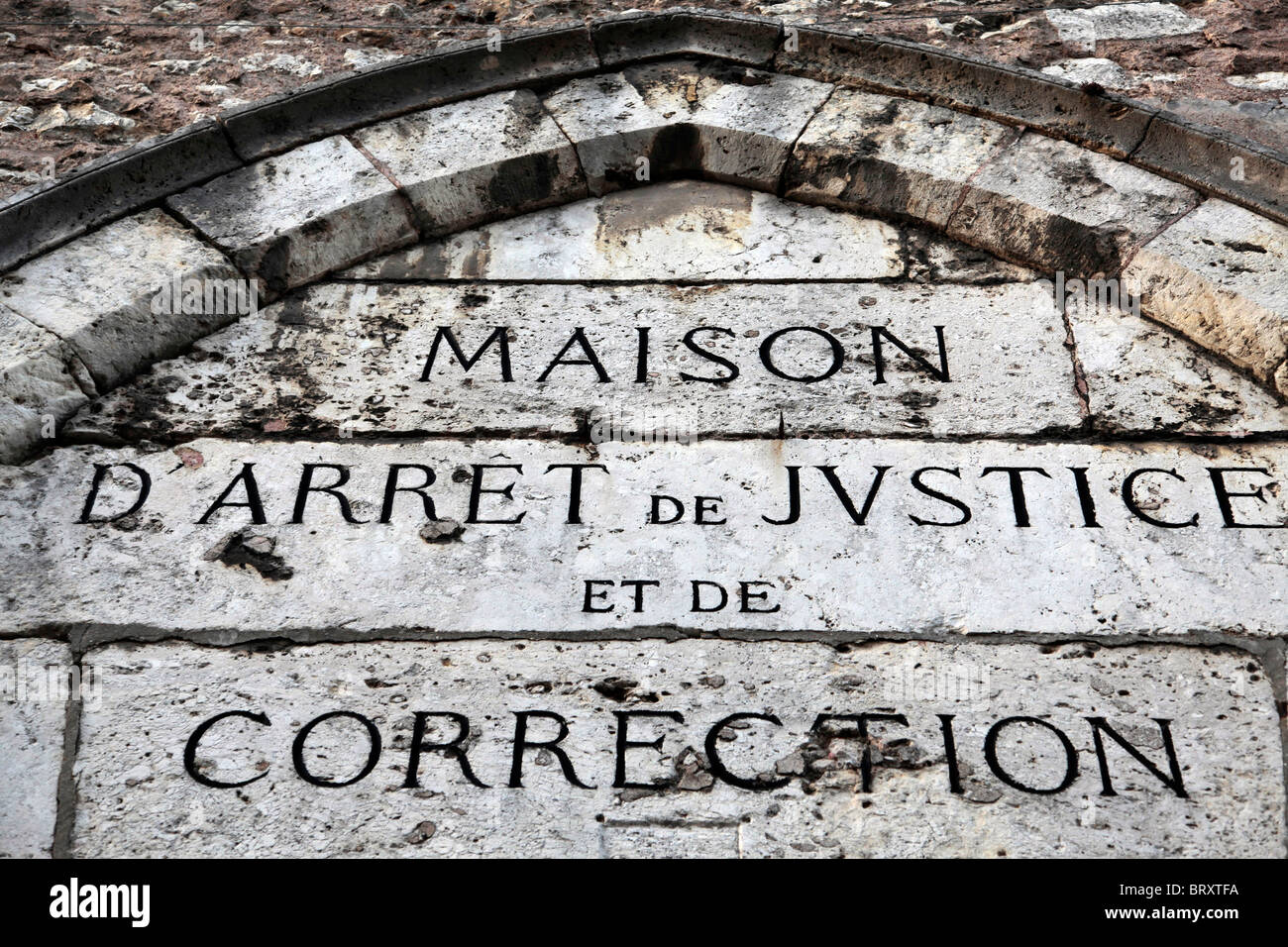 FACADE OF THE PRISON AND REFORMATORY, CHARTRES ,EURE-ET-LOIR (28), FRANCE - Stock Image