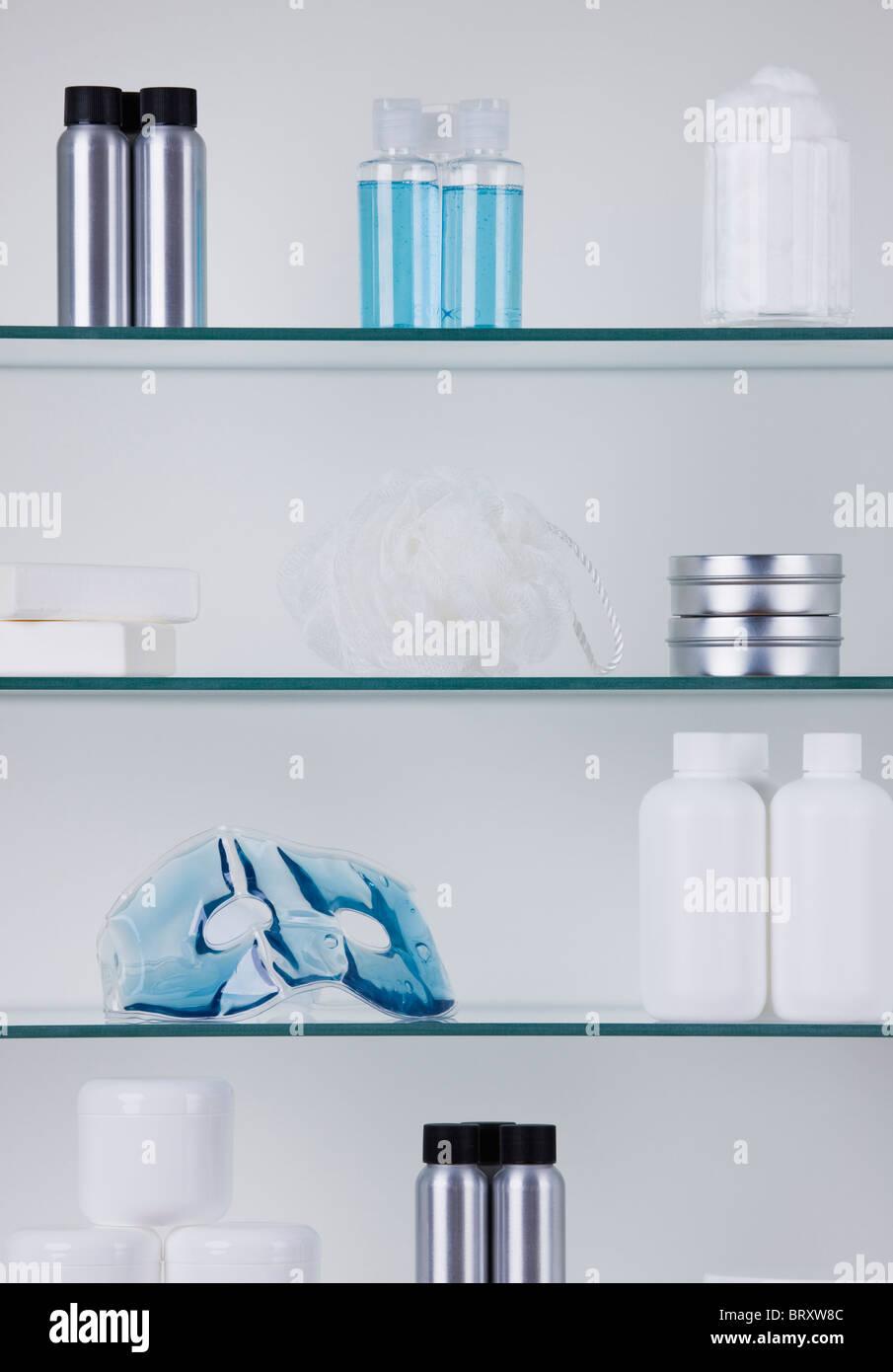 Bathroom Cabinet And Toiletries Stock Photos & Bathroom Cabinet And ...