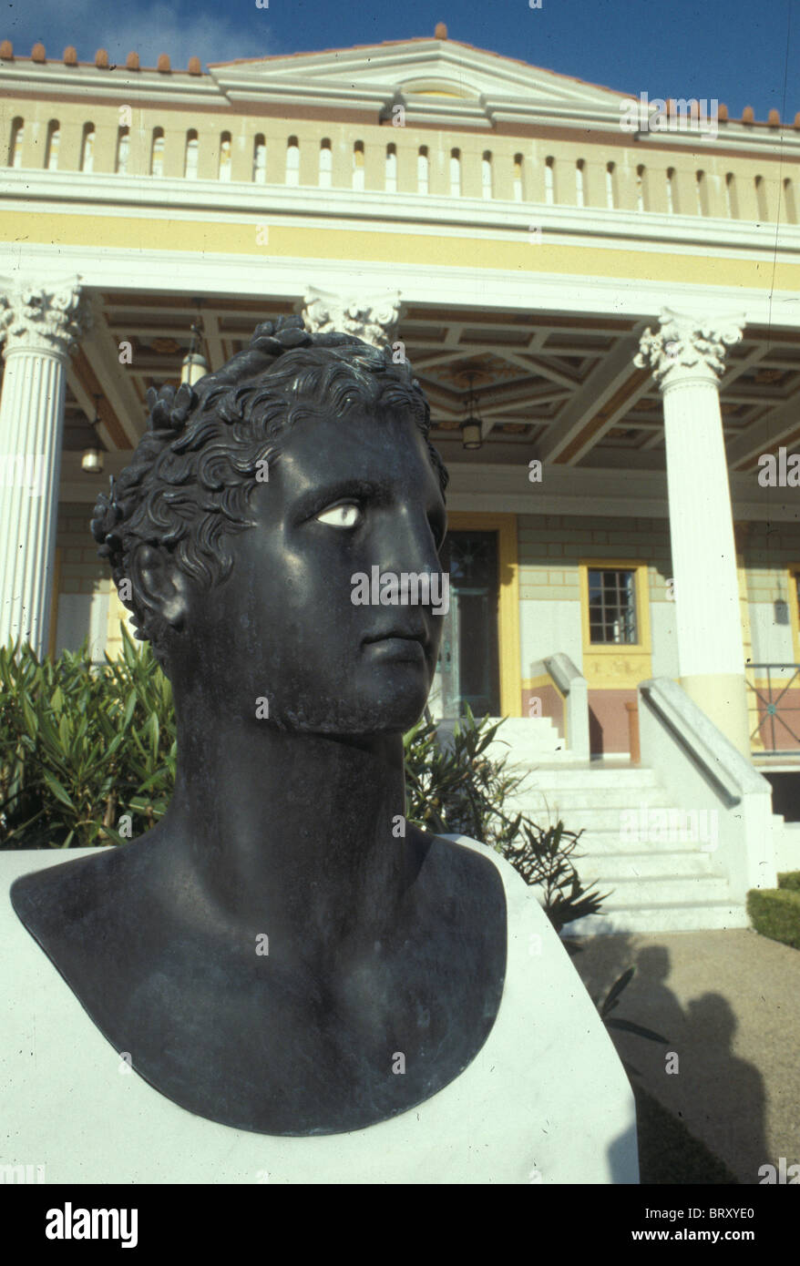 Getty Villa Museum Malibu Los Angeles Southern California in early 1980s - Stock Image