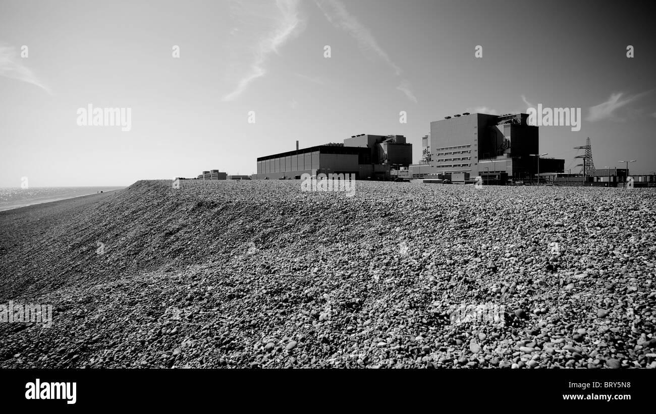the nuclear power station at dungeness,kent, u.k. - Stock Image