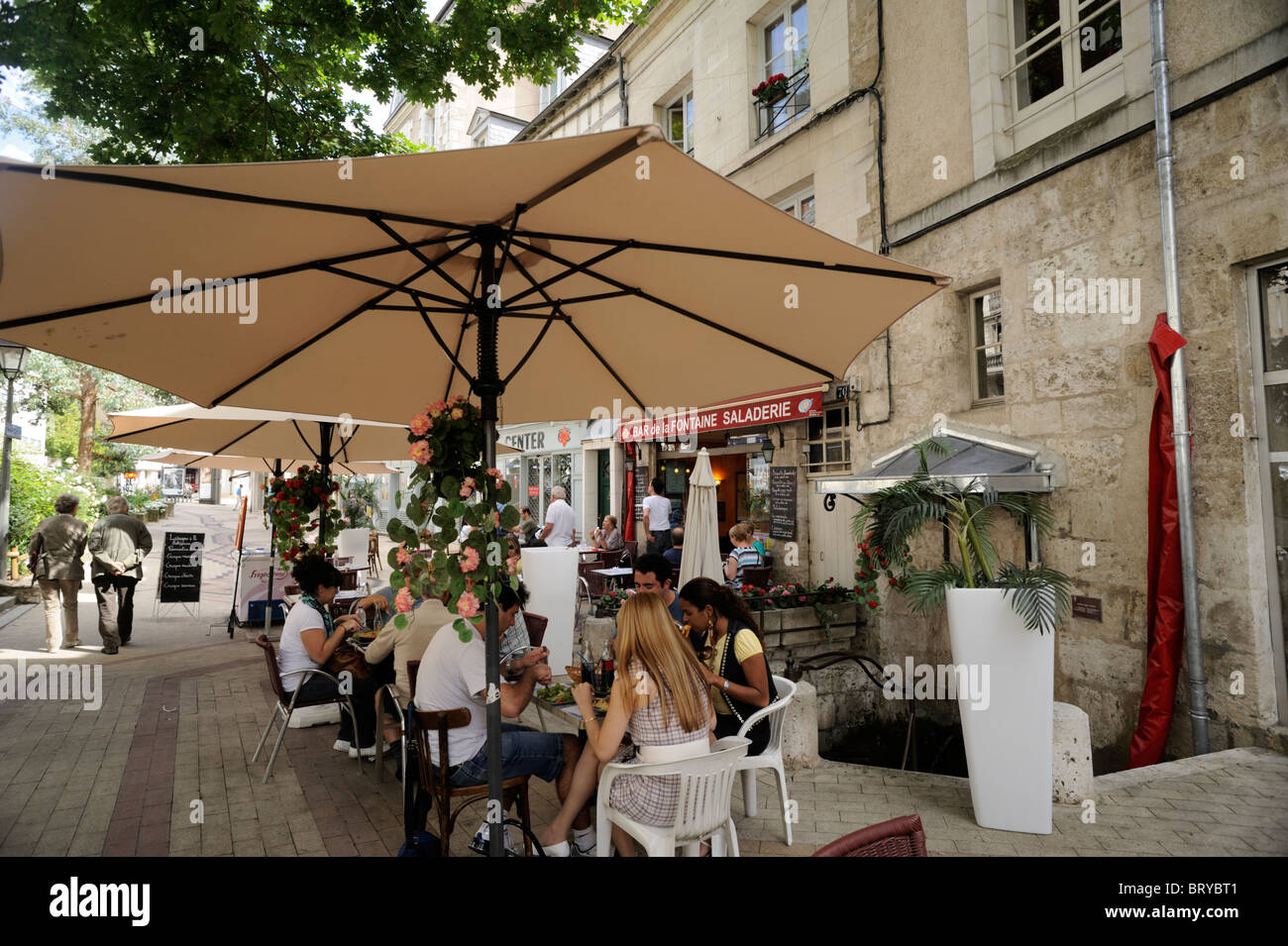 france, loire valley, blois, cafe - Stock Image