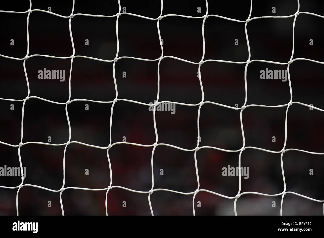 The net from a football goal - Stock Image