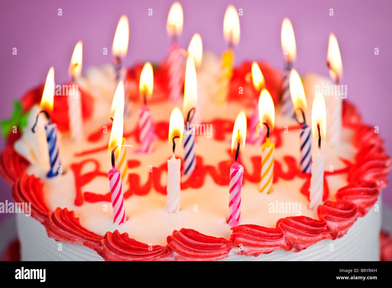 Birthday Cake Candles Words Happy Stock Photos Birthday Cake