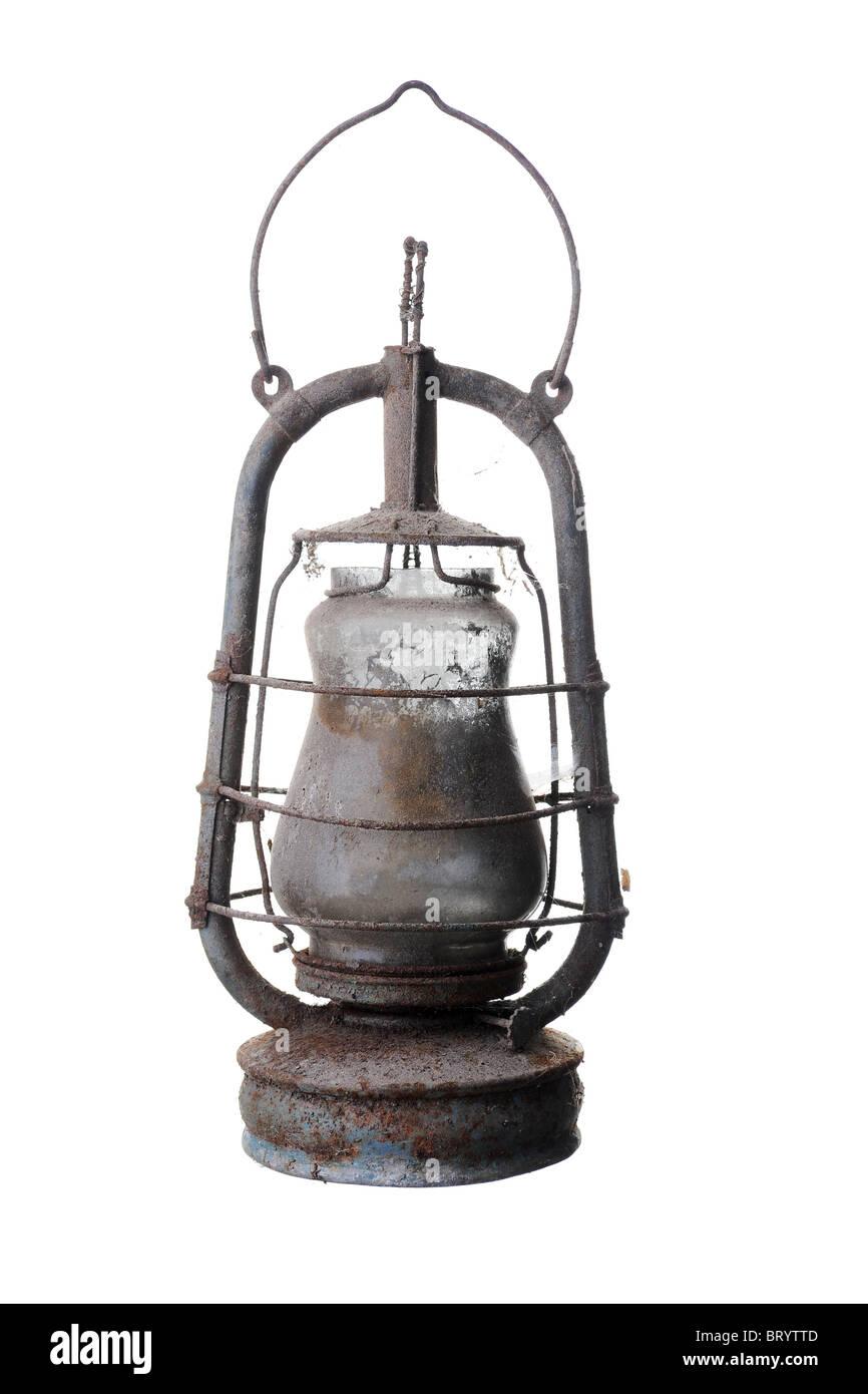 Old kerosene lamp. - Stock Image