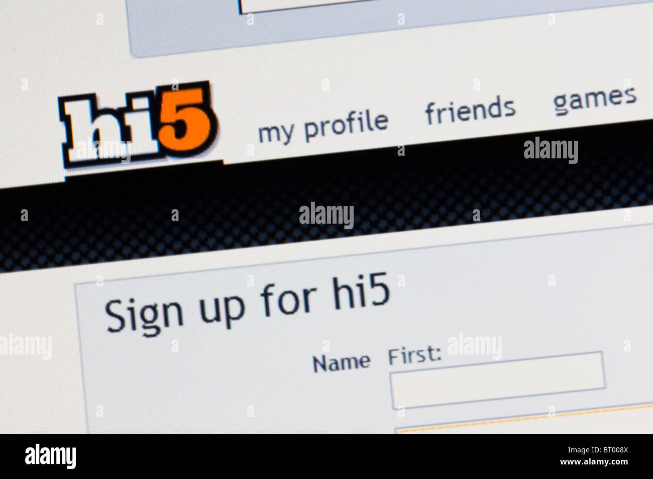 In hi5 sign Is Hi5
