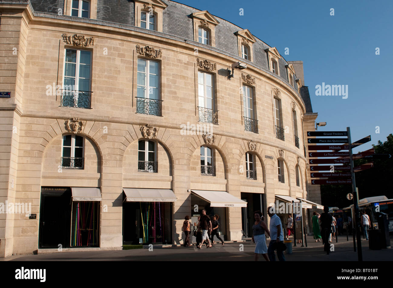 House on the Place Gambetta, Bordeaux, France - Stock Image