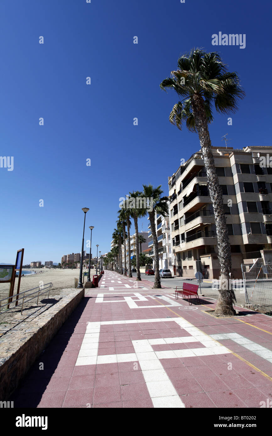 Beach front in Aguilas. Spain - Stock Image