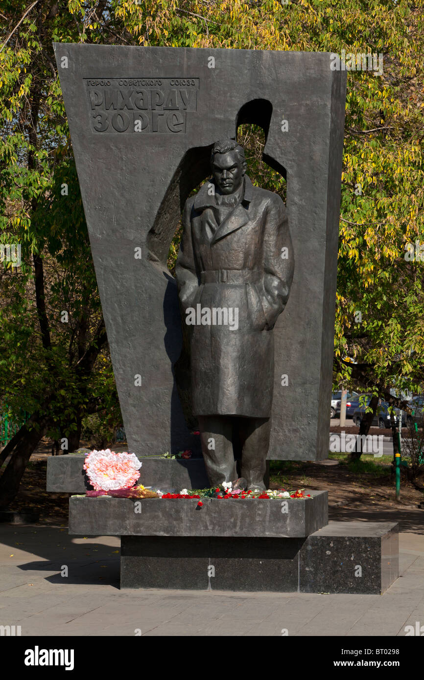 Monument to the Soviet spy Richard Sorge in Moscow, Russia - Stock Image
