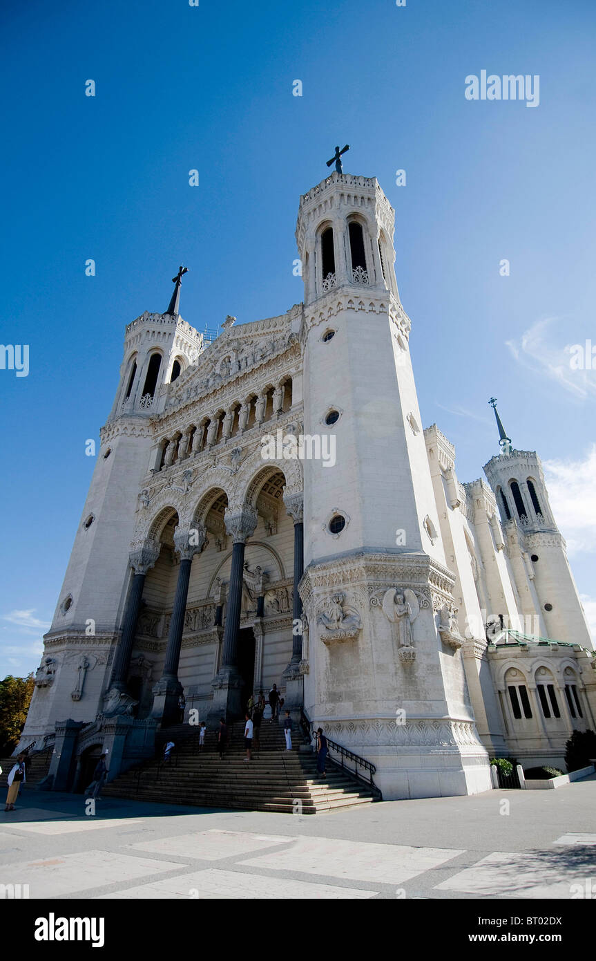 Notre Dame de Fourviere Basilica - Stock Image