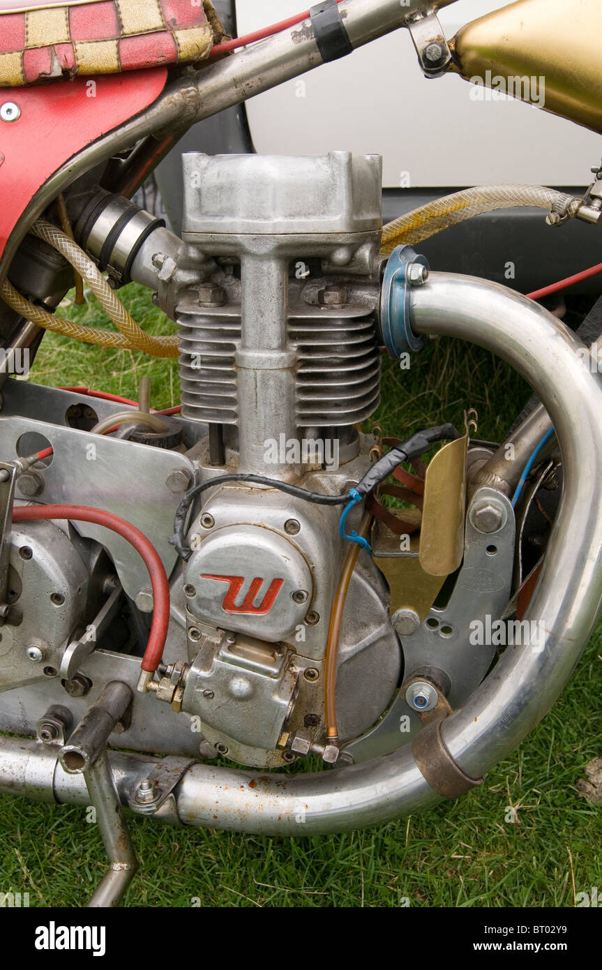 weslake single cylinder speedway bike engine - Stock Image