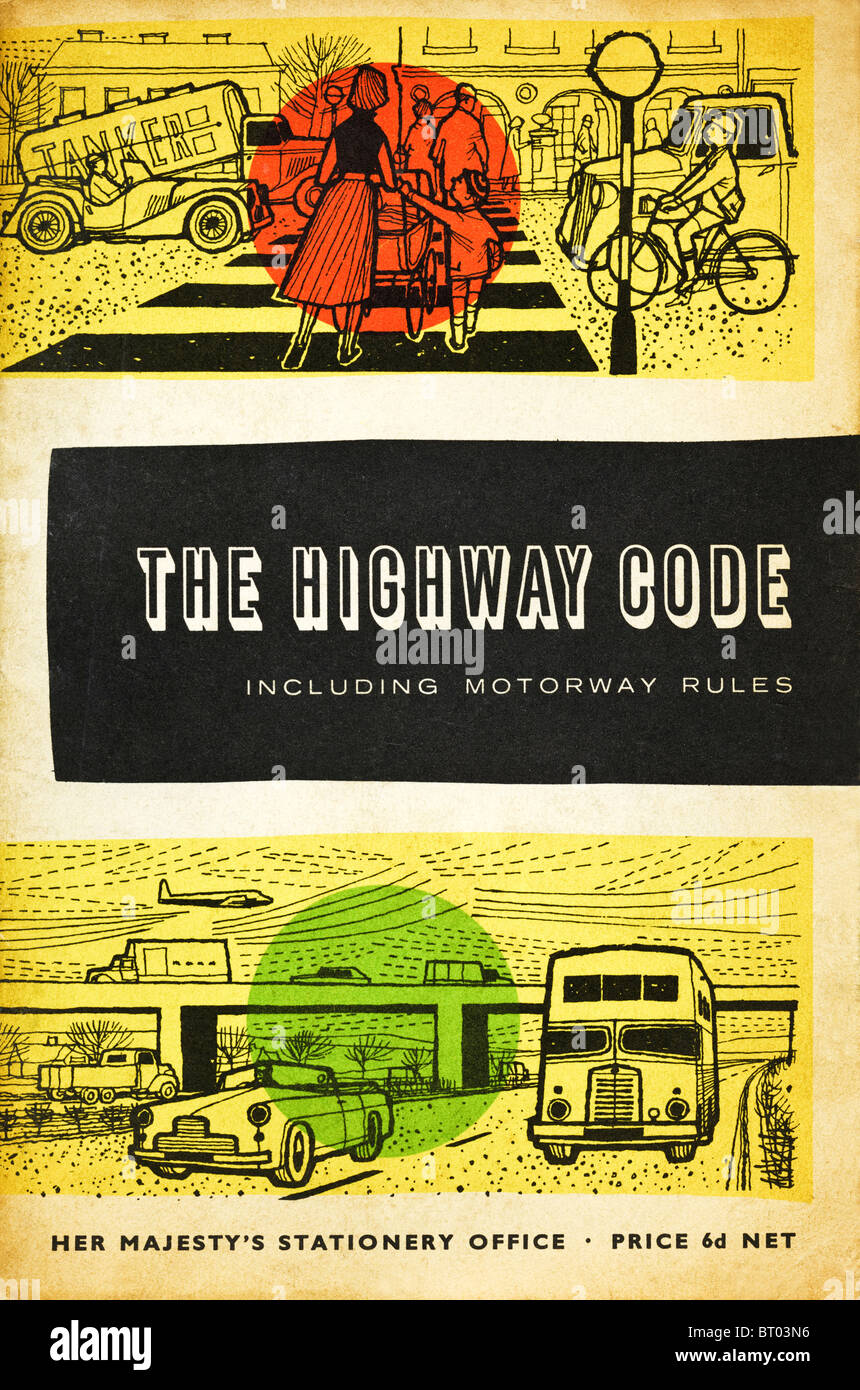 Highway Code booklet circa 1964 issue by Ministry of Transport published by Her Majesty`s Stationery Office - Stock Image