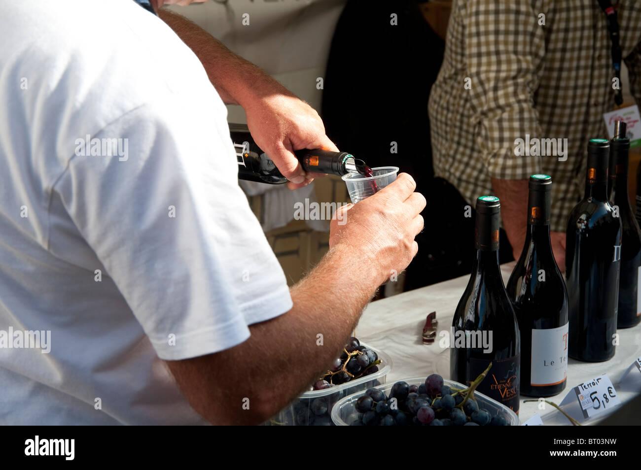 Fête des vendanges, grape harvest Festival in Montmartre, Paris, France Stock Photo