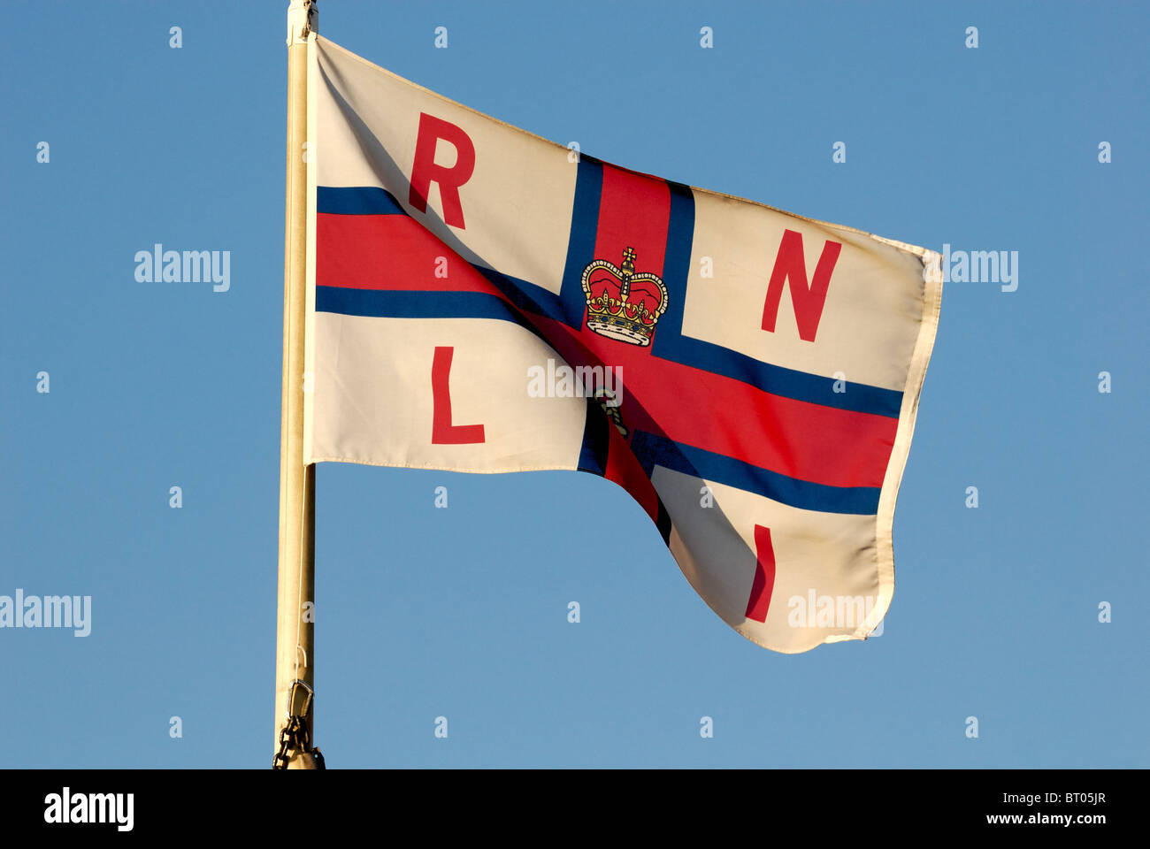 Royal National Lifeboat Institute flag - Stock Image