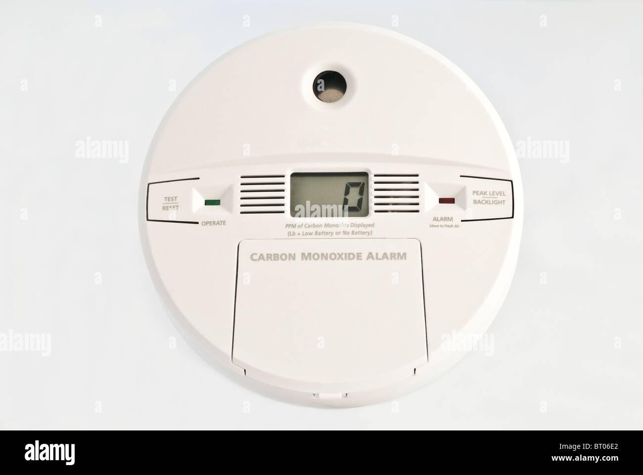 Carbon Monoxide Detector - Stock Image