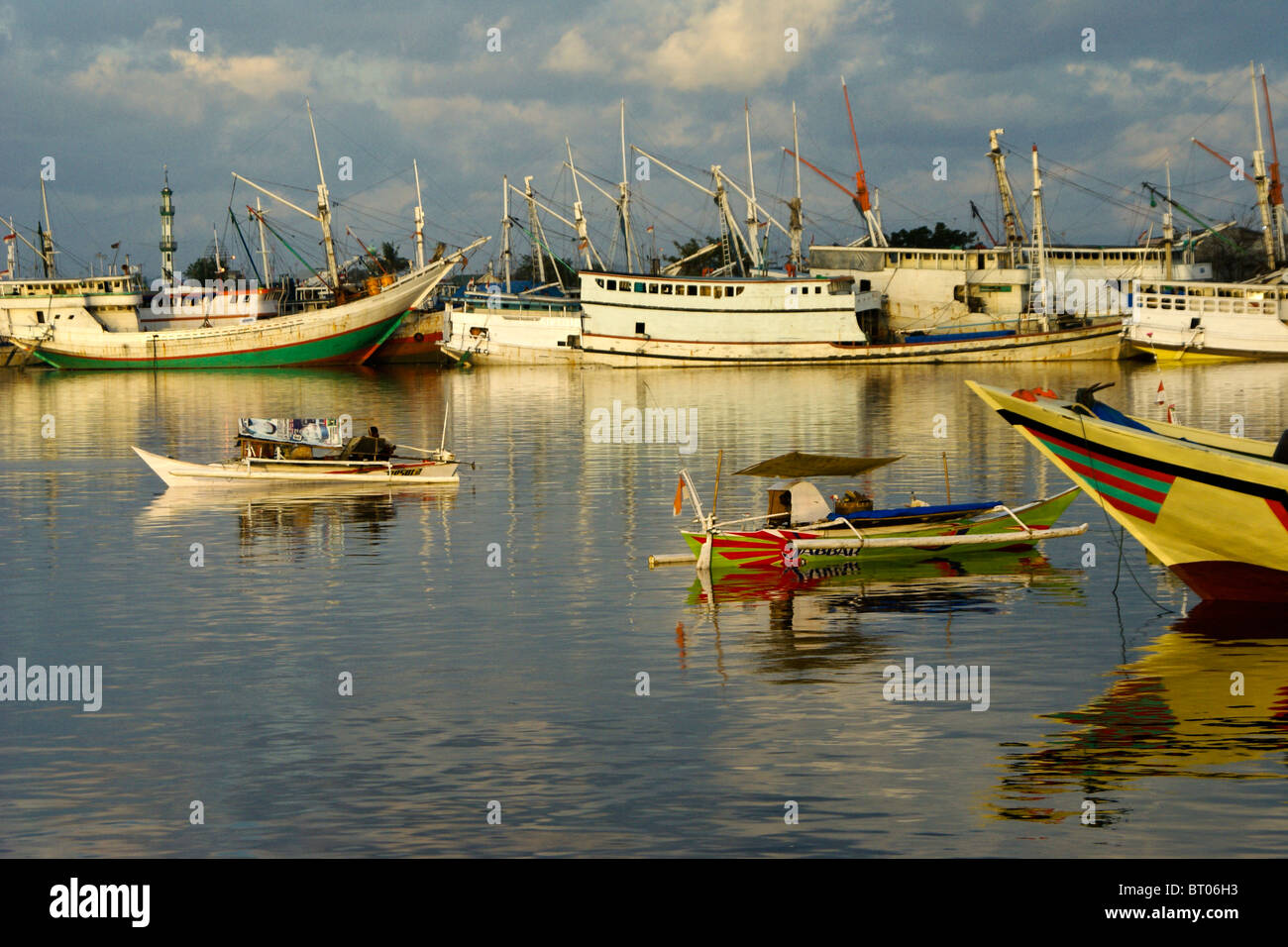 Paotere Harbor, Makassar, South Sulawesi, Indonesia - Stock Image
