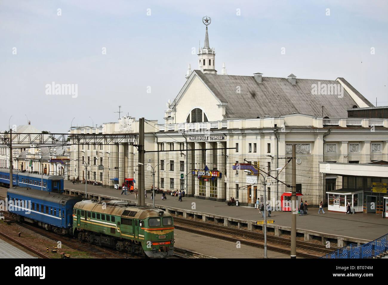 Brest Central Railway Station, Brest, Belarus - Stock Image