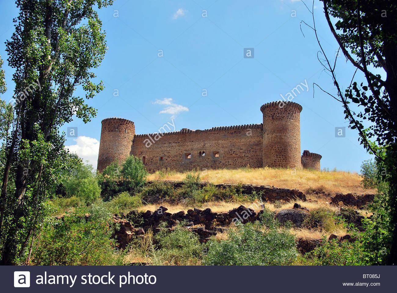 Old medieval castle in Barco de Avila. Avila. Spain Stock Photo