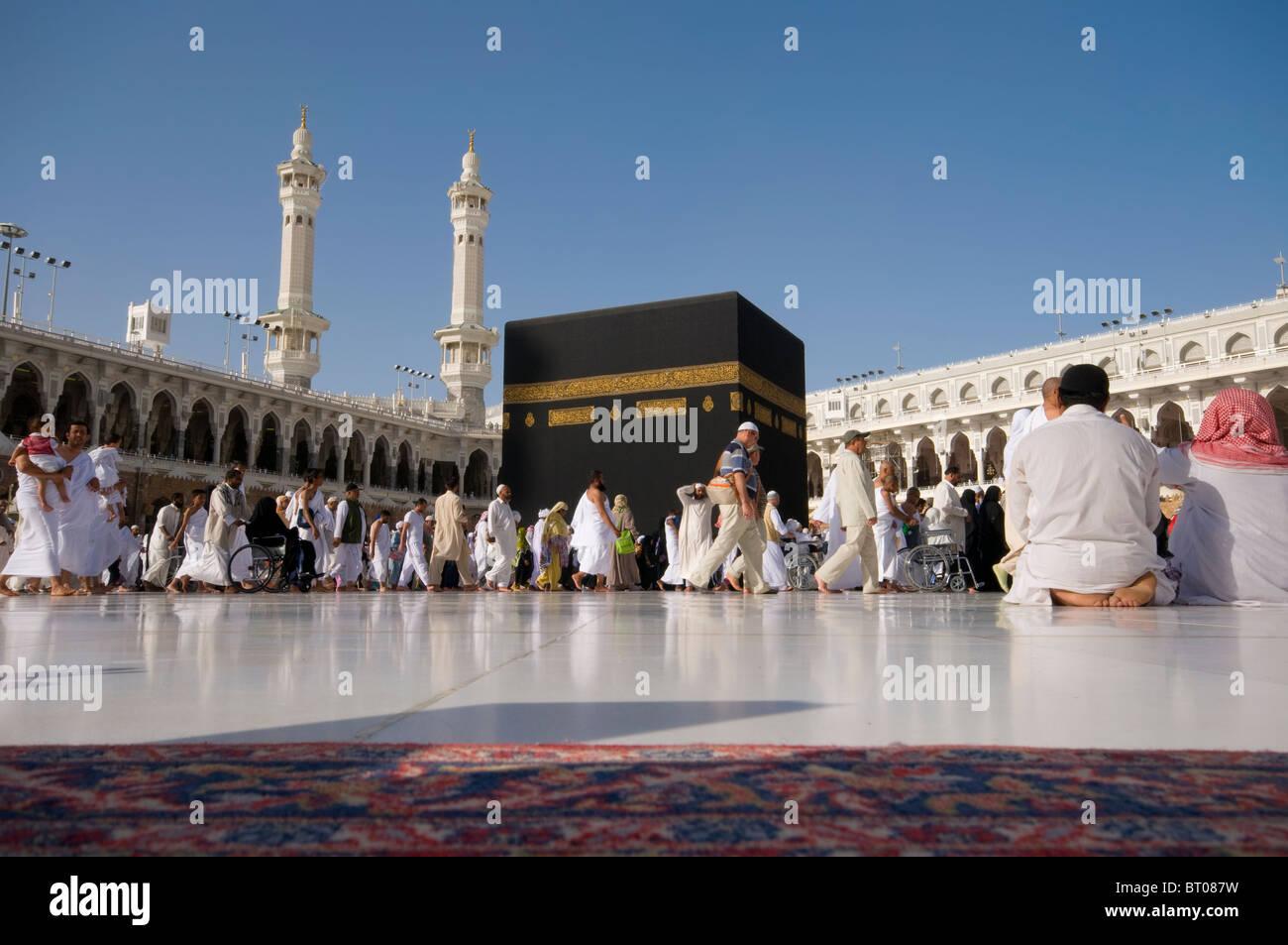 pilgrims circumambulate the kaaba at masjidil haram on april 23