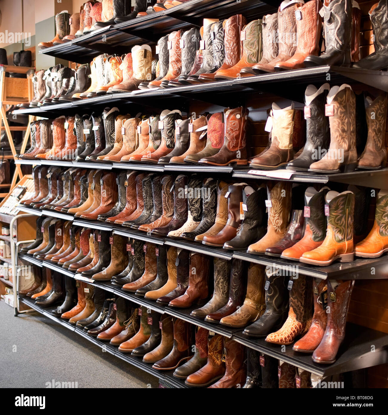 283e833e44c Rows of cowboy boots, Alberta, Canada Stock Photo: 31968764 - Alamy