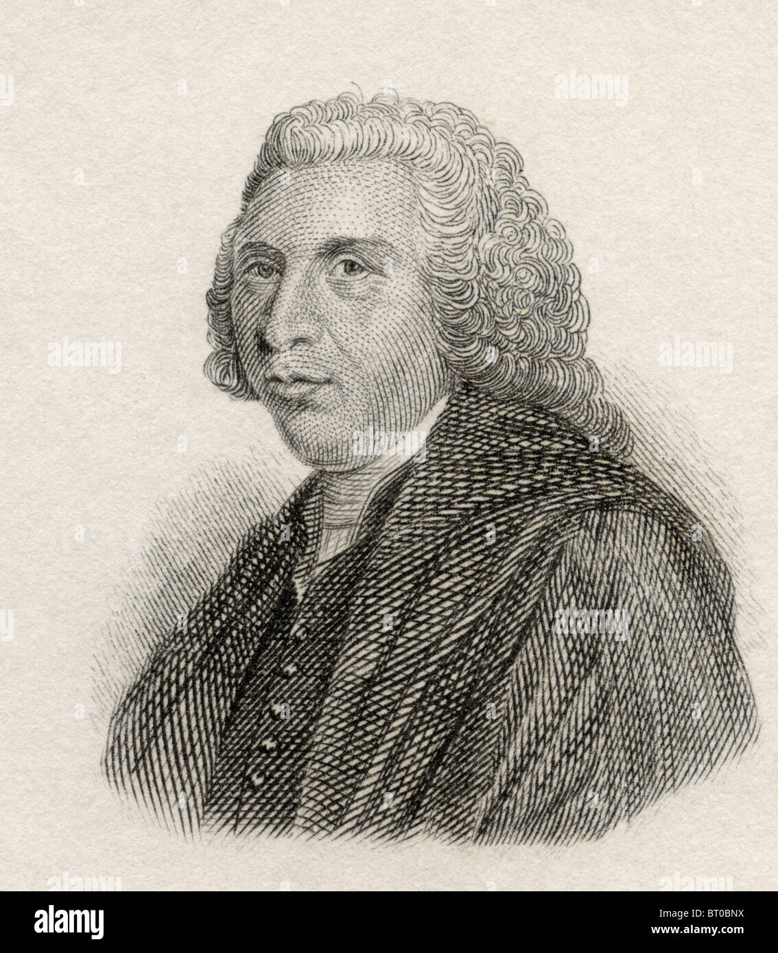 Hugh Blair, 1718 to 1800. Scottish minister of religion, author, and theorist of written discourse. - Stock Image