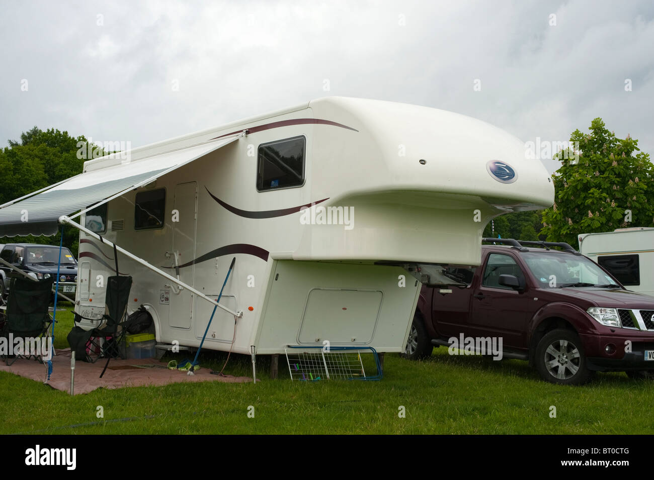 Fifth 5th Wheel Co Trailer Caravan roll out Awning Stock ...