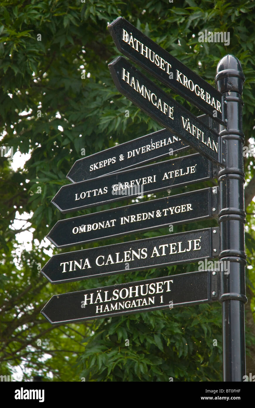 Signs In Sigtuna The Oldest Town Sweden Greater Stockholm Area
