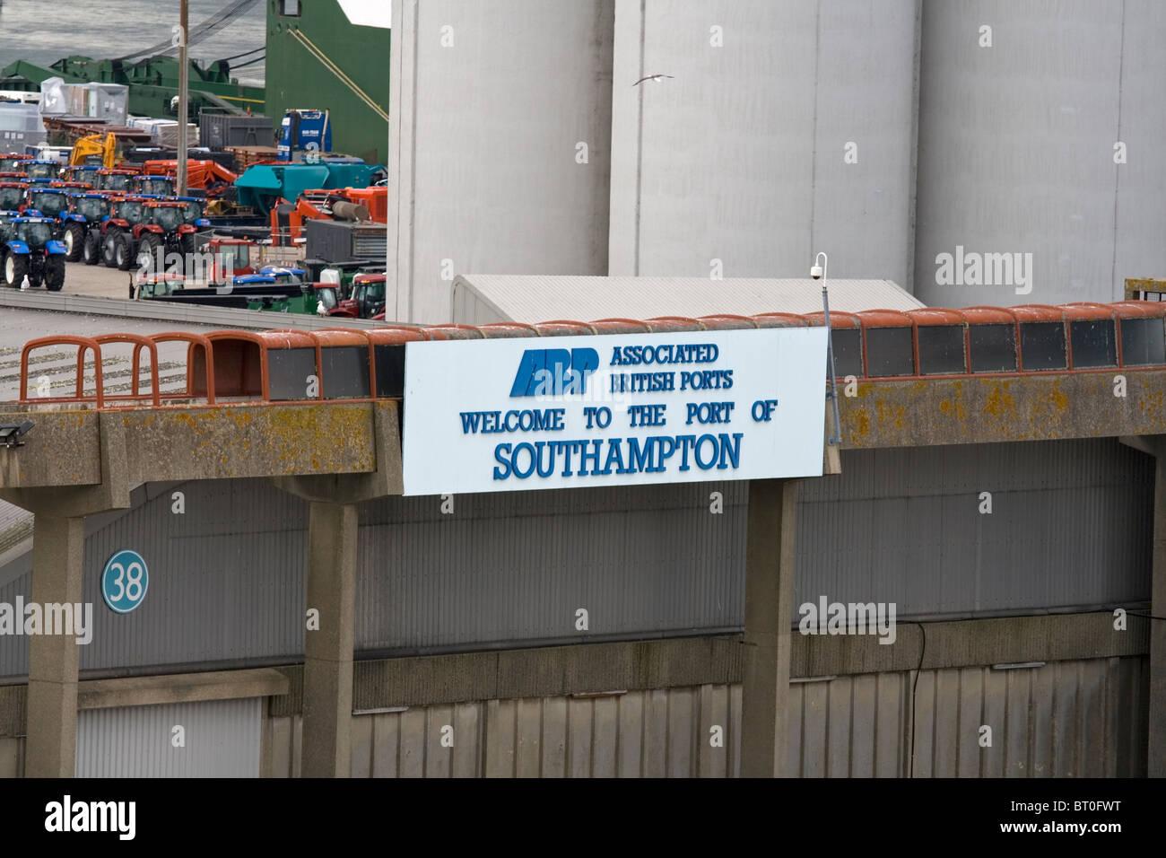 Port of Southampton, Associated British Ports - Stock Image