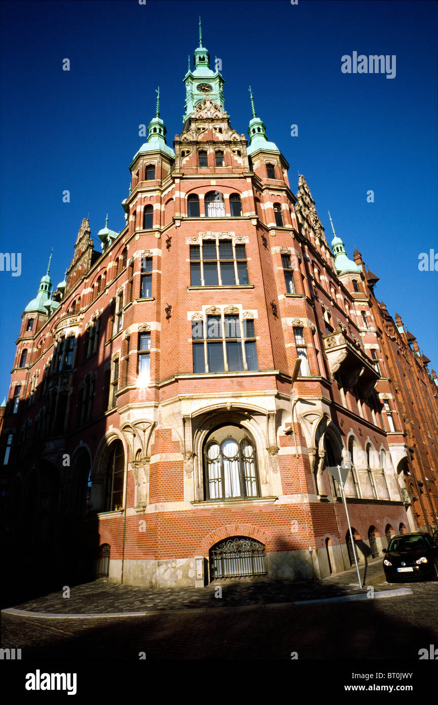 Hamburg Port Authority (Hafenaufsicht) at Speicherstadt in the German city of Hamburg. - Stock Image