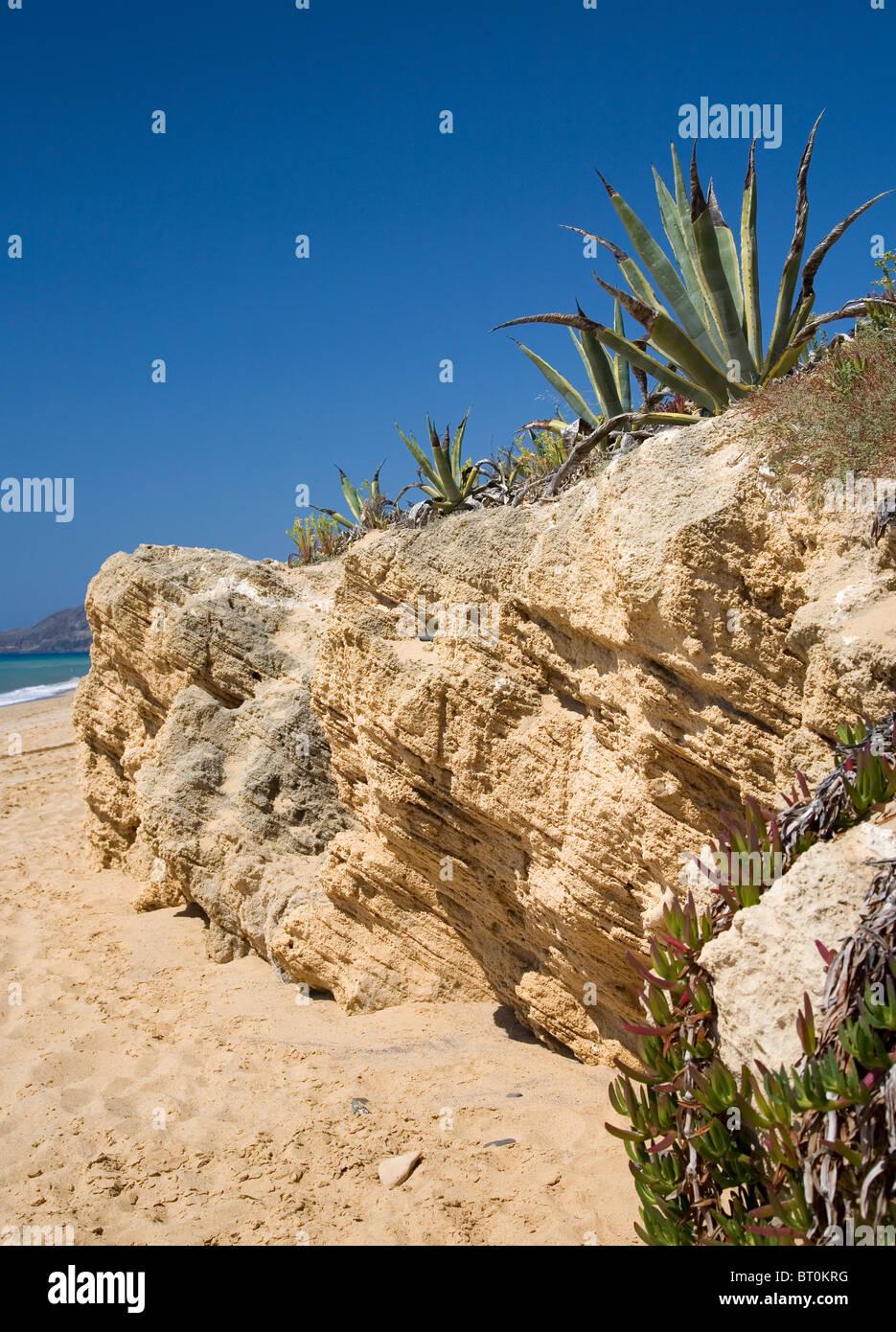 Porto Santo Beach Landscape - Stock Image