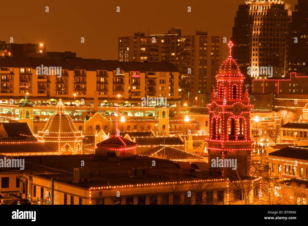 Kansas City Plaza Christmas lights Stock Photo: 31980878 - Alamy