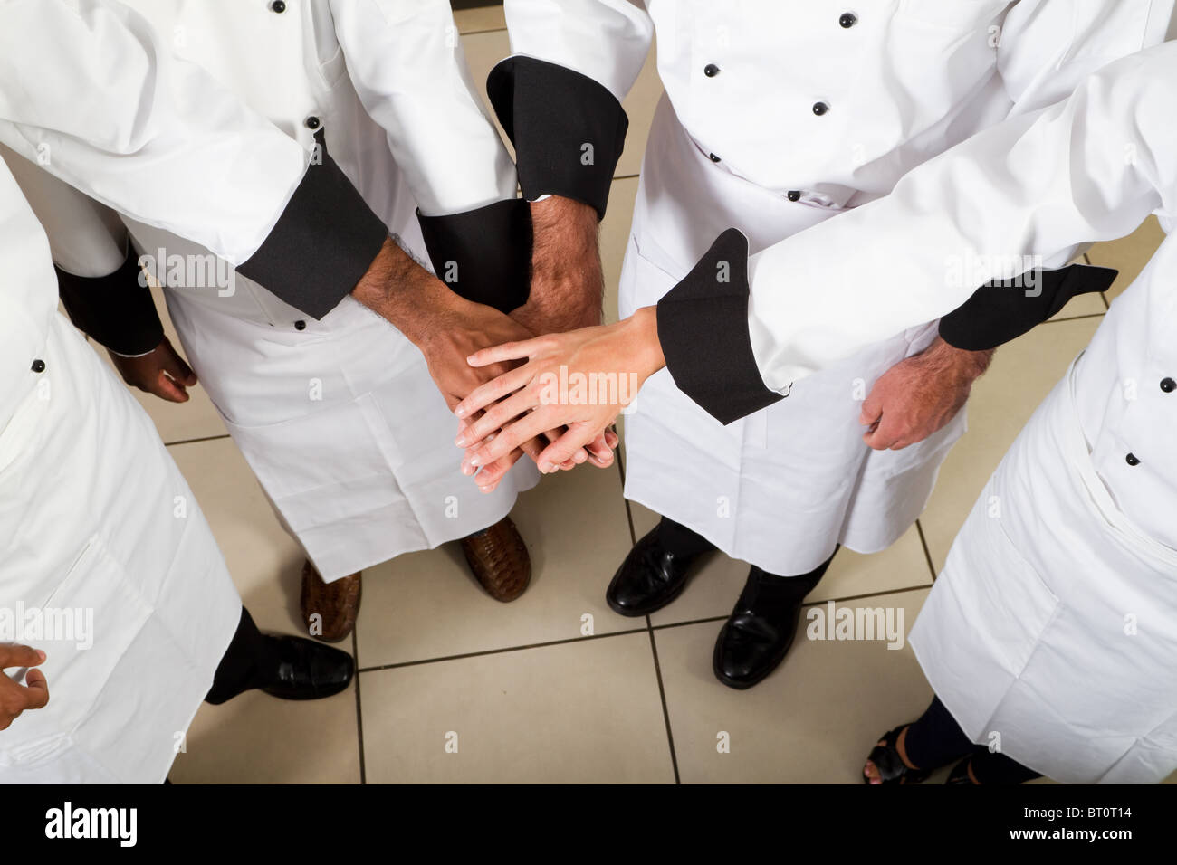 professional chef teamwork - Stock Image