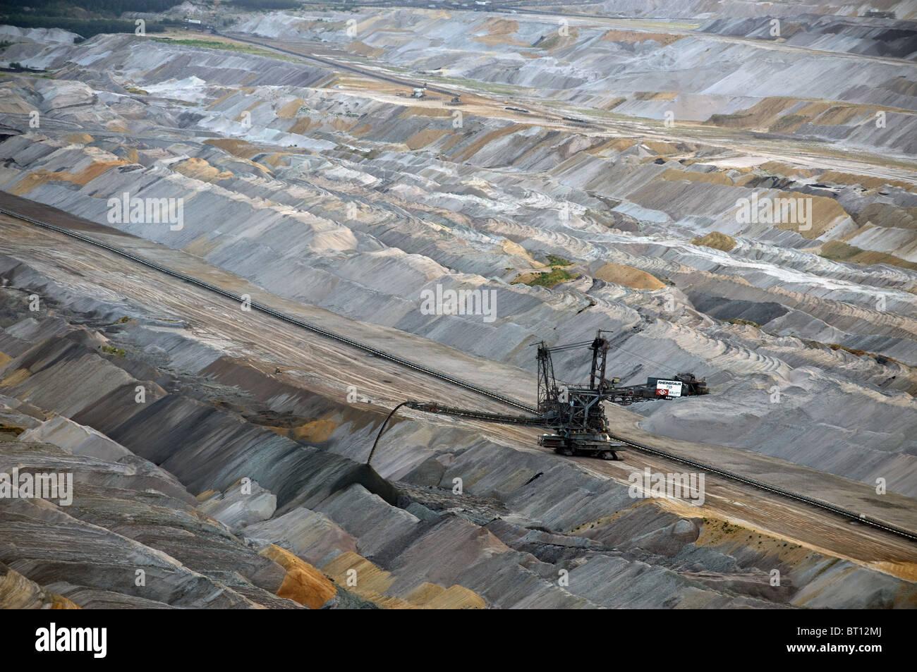 Open-cast coal mine, Germany. Stock Photo