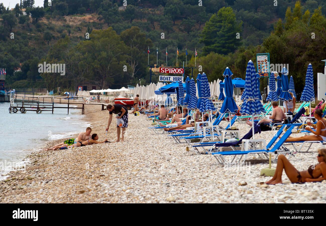 Barbati Beach, Corfu, Ionian Islands Greece. - Stock Image