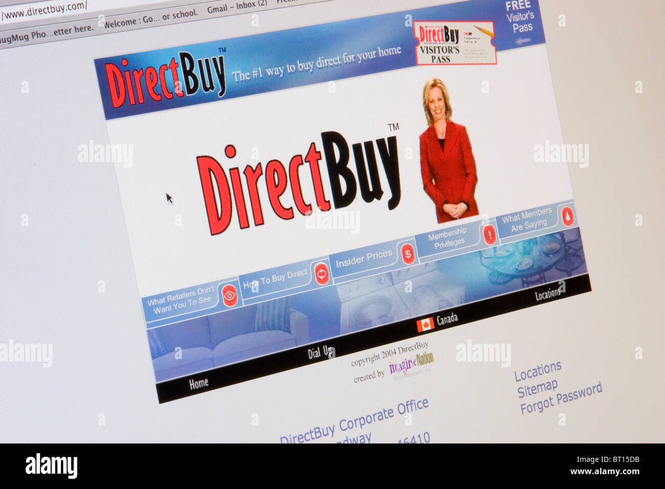 Direct Buy website screenshot on internet, computer - Stock Image