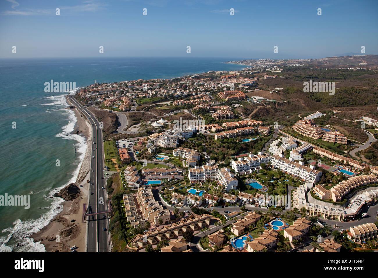 Vista aerea de mijas costa m laga costa del sol andaluc a espa a stock photo 31988594 alamy - Fotografia aerea malaga ...