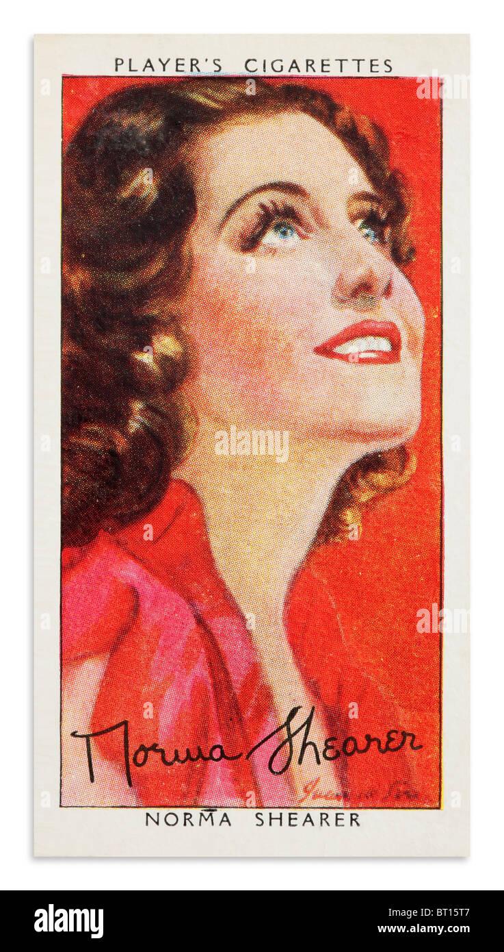 Norma Shearer Player's Cigarette Cards Portrait - Stock Image