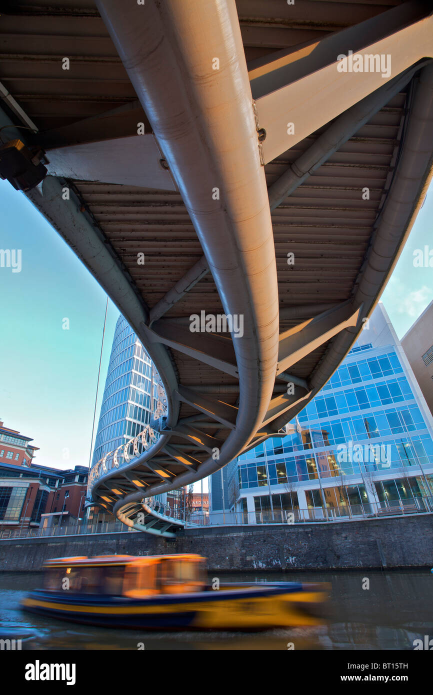 Bristols Valentines Bridge viewed from the unusual angle from under the bridge - Stock Image