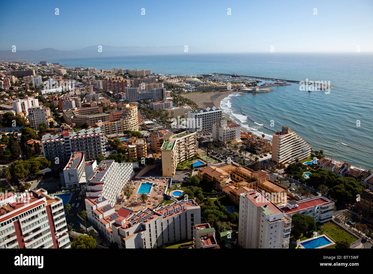 Vista aerea de benalm dena m laga costa del sol andaluc a espa a stock photo 31988699 alamy - Fotografia aerea malaga ...