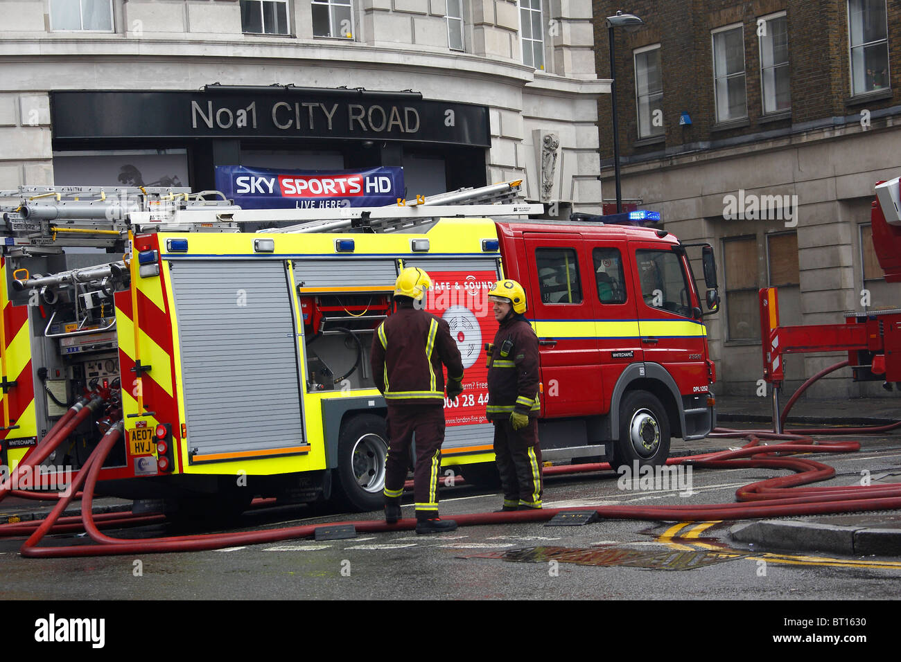 Exceptional LFB Mercedes Fire Engine   Stock Image