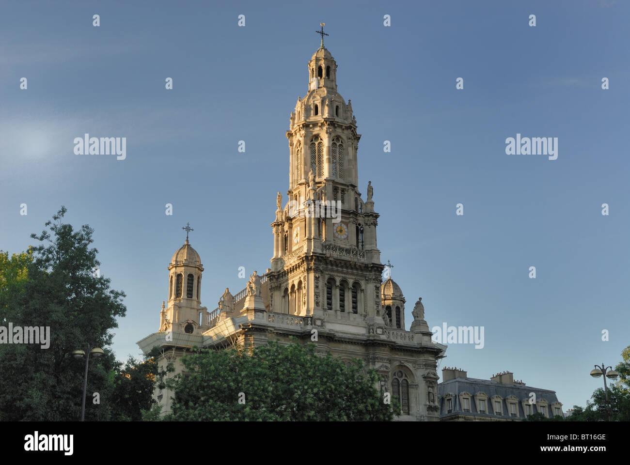 The Église de la Sainte-Trinité, a Roman Catholic church built between 1861 and 1867, located in the 9th - Stock Image