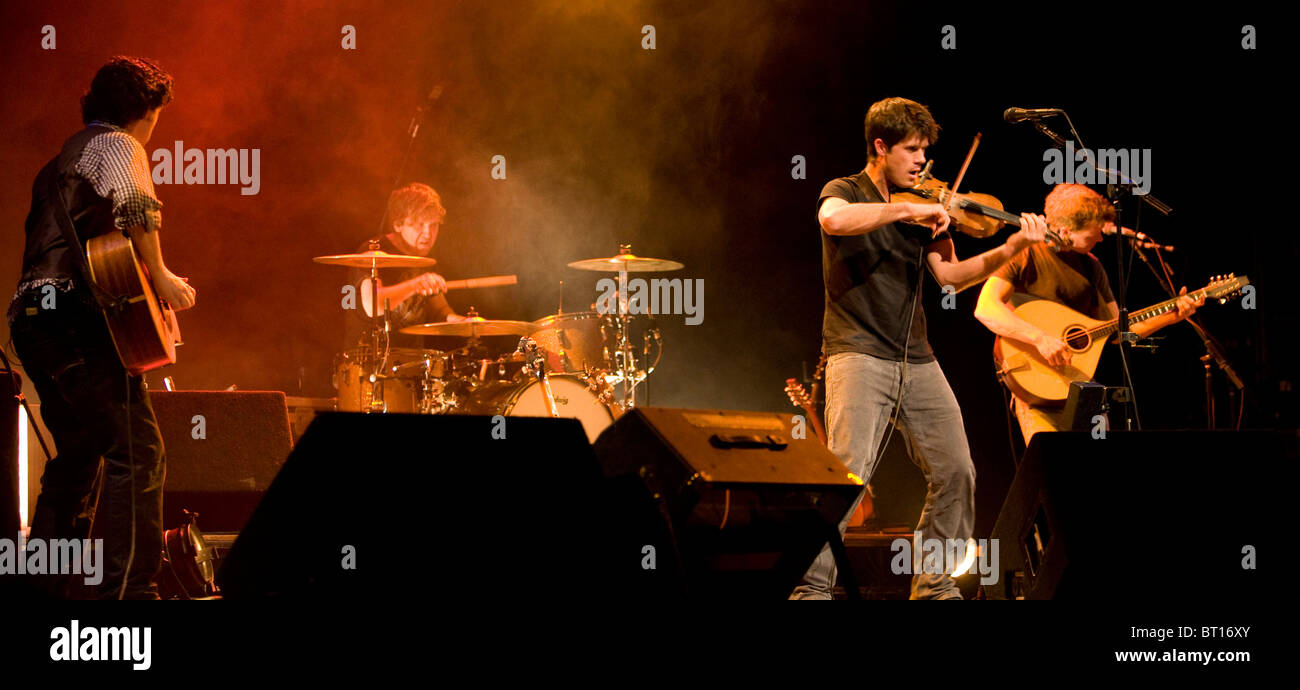 English folk singer Seth Lakeman in concert, 2000 - Stock Image